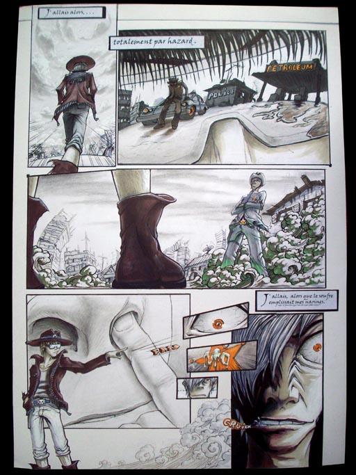 premiers travaux - projet bande-dessinée .